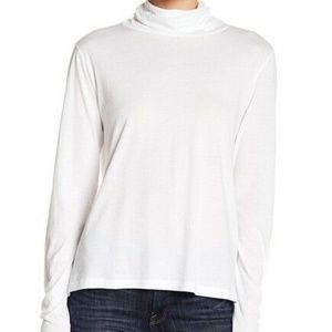 Abound Everyday Turtleneck Shirt Size XL White Top